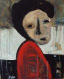 Portret czerwono-czarny