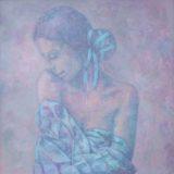 Dziewczyna z niebieską wstążką