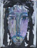 Głowa Chrystusa w fiolecie