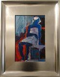 bez tytułu (postać siedząca, niebieska)